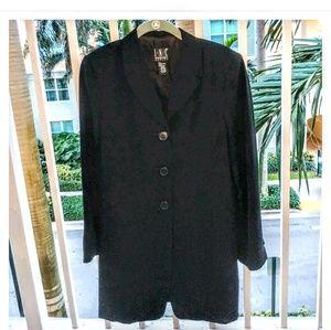 INC black fitted long Blazer jacket 8P